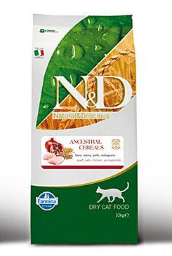 N&D Low Grain CAT Adult Chicken & Pomegranate 10kg