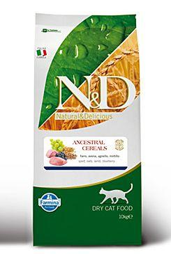 N&D Low Grain CAT Adult Lamb & Blueberry 10kg